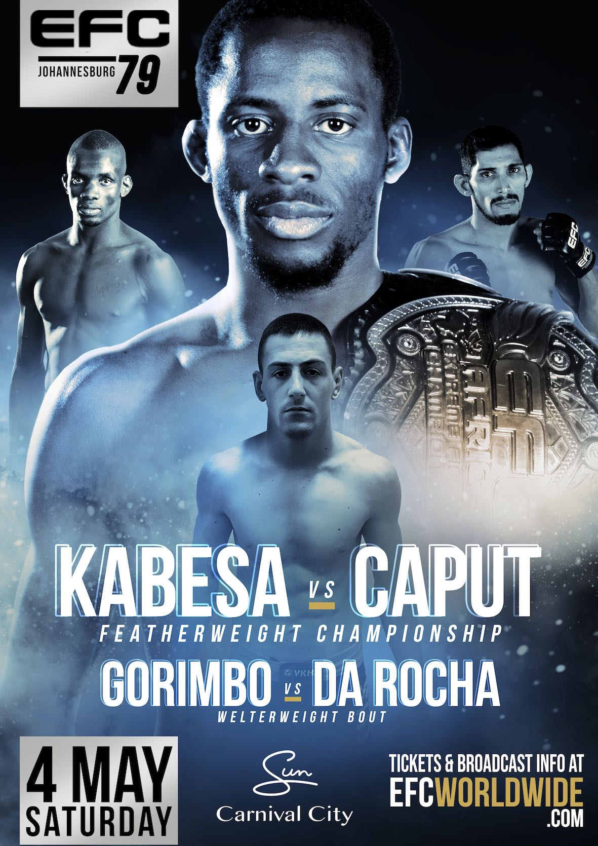 See the full fight card for EFC 79 featuring 11 exciting MMA bouts