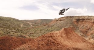 Freeride MTB rider, Ethan Nell puts the all new Fox Rampage Pro Carbon helmet to the test while throwing it down on his home trails near Virgin, Utah - presenting Home.