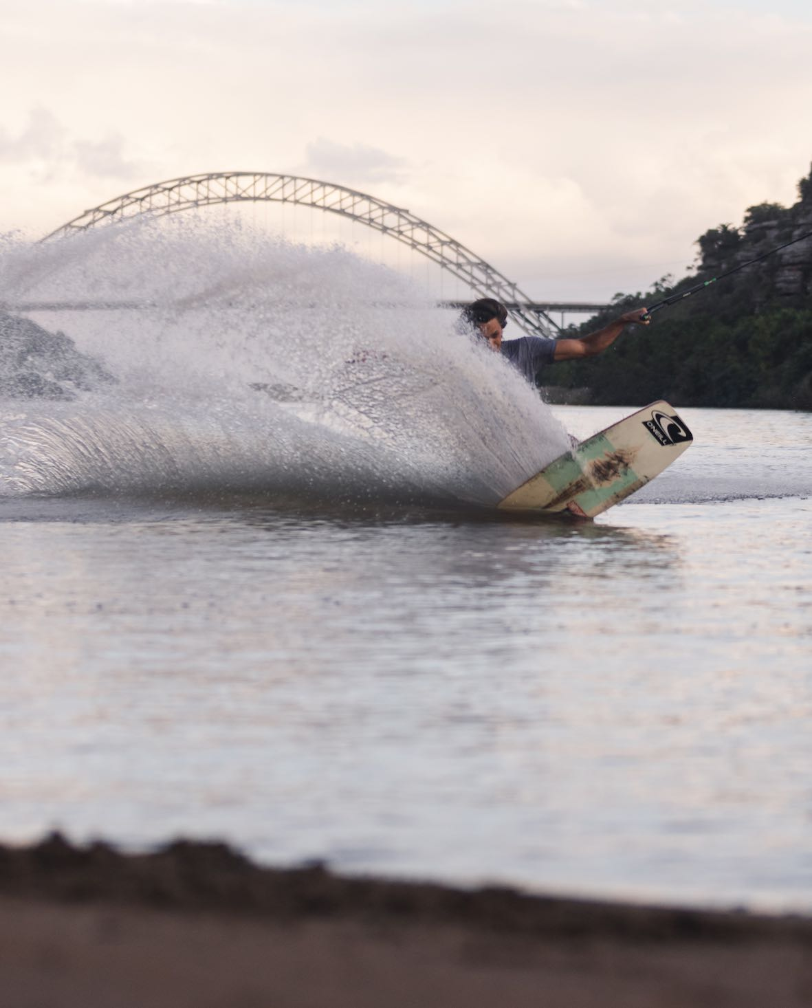 Matti Buys wakeskaing for team O'Neill