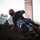 Leonard du Toit racing his way to victory at Round 3 of the SA Motocross Nationals