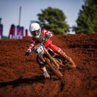 Emmanuel Bako racing his way to victory at Round 3 of the SA Motocross Nationals
