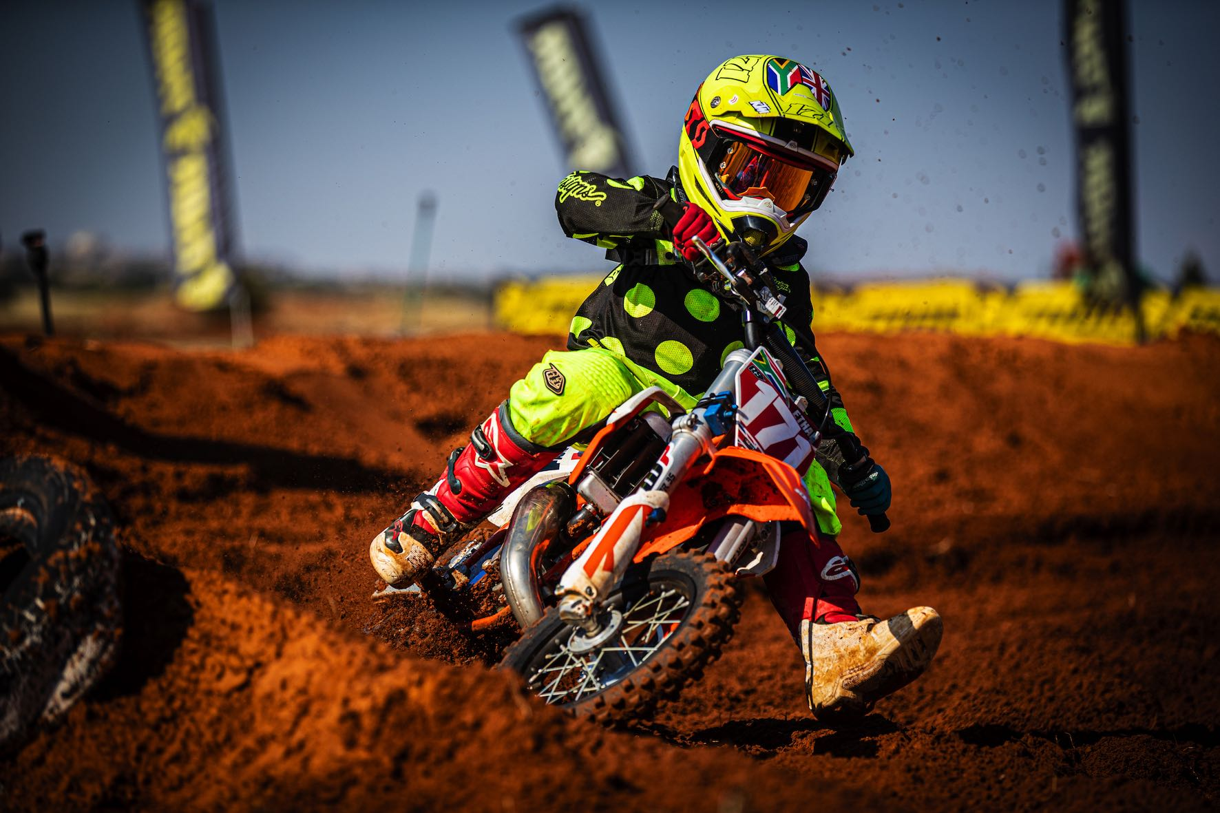 Ethan Williamson racing his way to victory at Round 3 of the SA Motocross Nationals