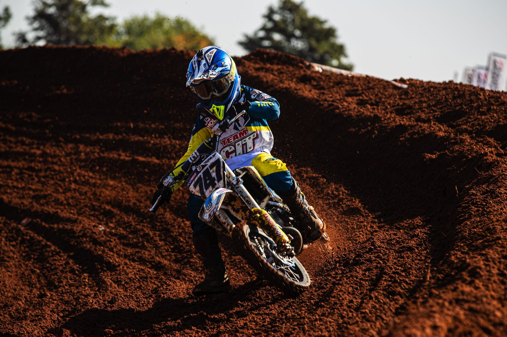 Jordan van Wyk racing his way to victory at Round 3 of the SA Motocross Nationals