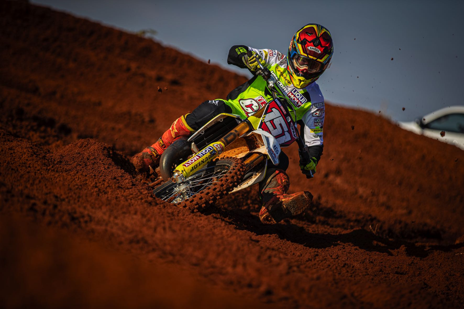 Dalton Venter racing his way to victory at Round 3 of the SA Motocross Nationals