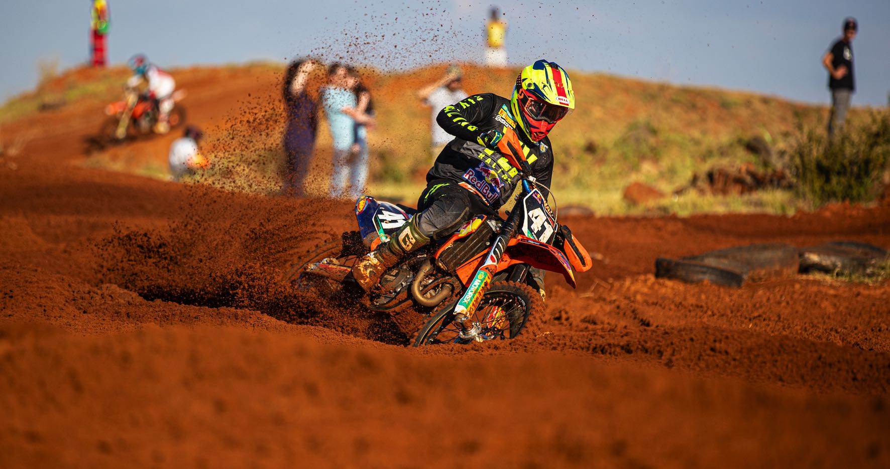 Tristan Purdon racing his way to victory at Round 3 of the SA Motocross Nationals