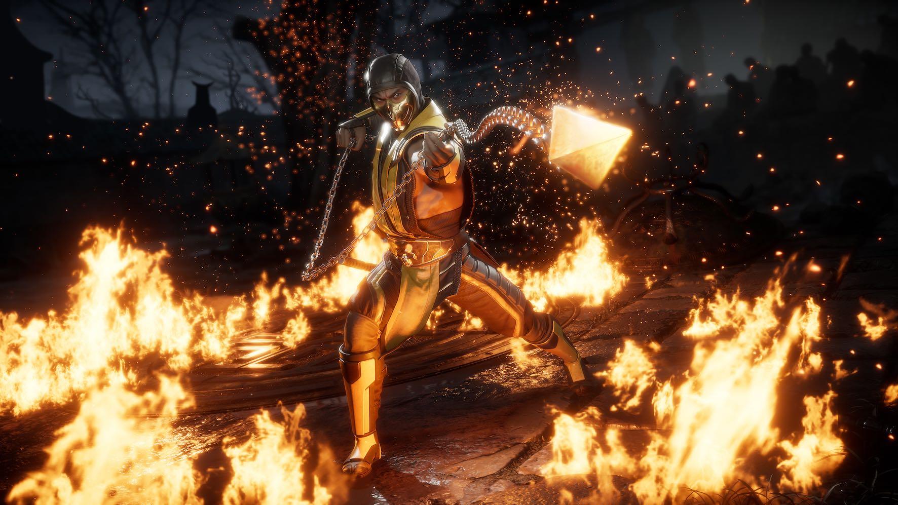 Scorpion featured in Mortal Kombat 11