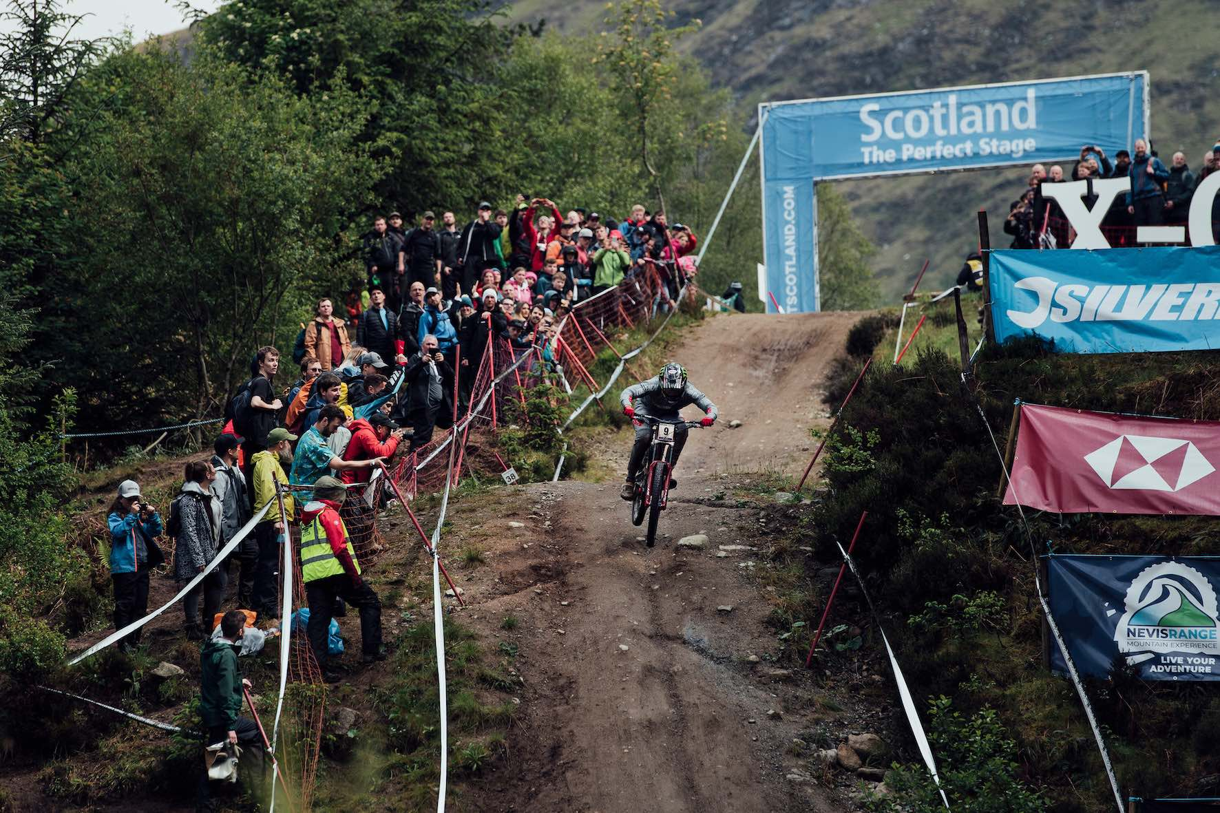 Amaury Pierron winning the 2019 Downhill MTB World Cup at Fort William