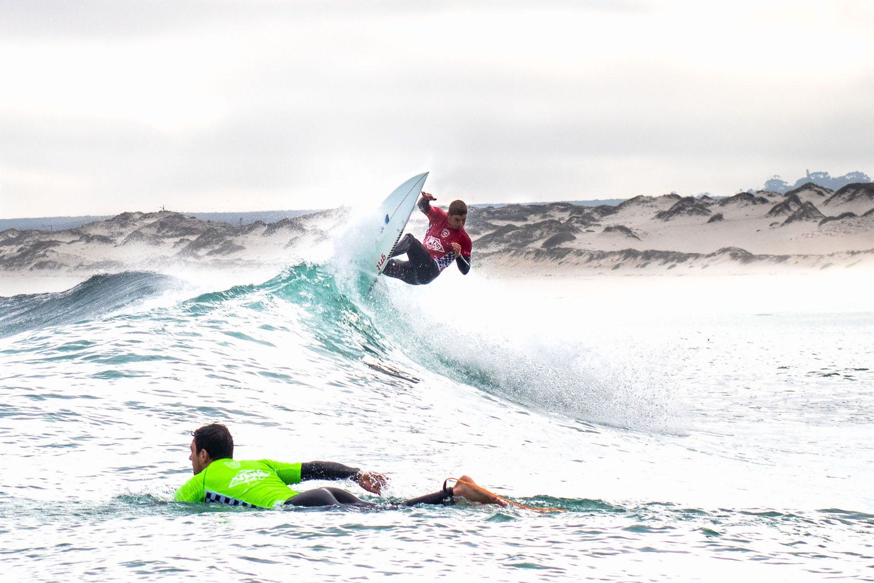 Koby Oberholzer surfing in the 2019 Vans Surf Pro Classic