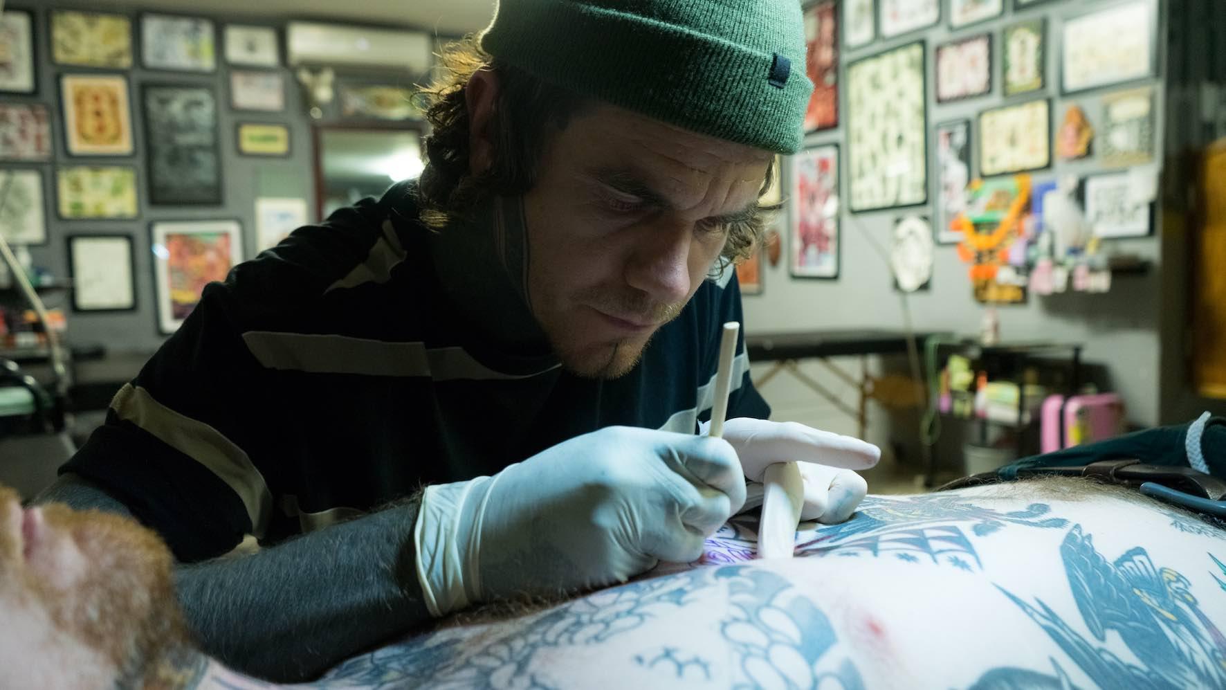 We talk tattoos and Hand Poke tattoos with Tarzan