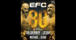 The biggest MMA fight night in EFC history is here. EFC 80 bring with it 10 exciting MMA fights.