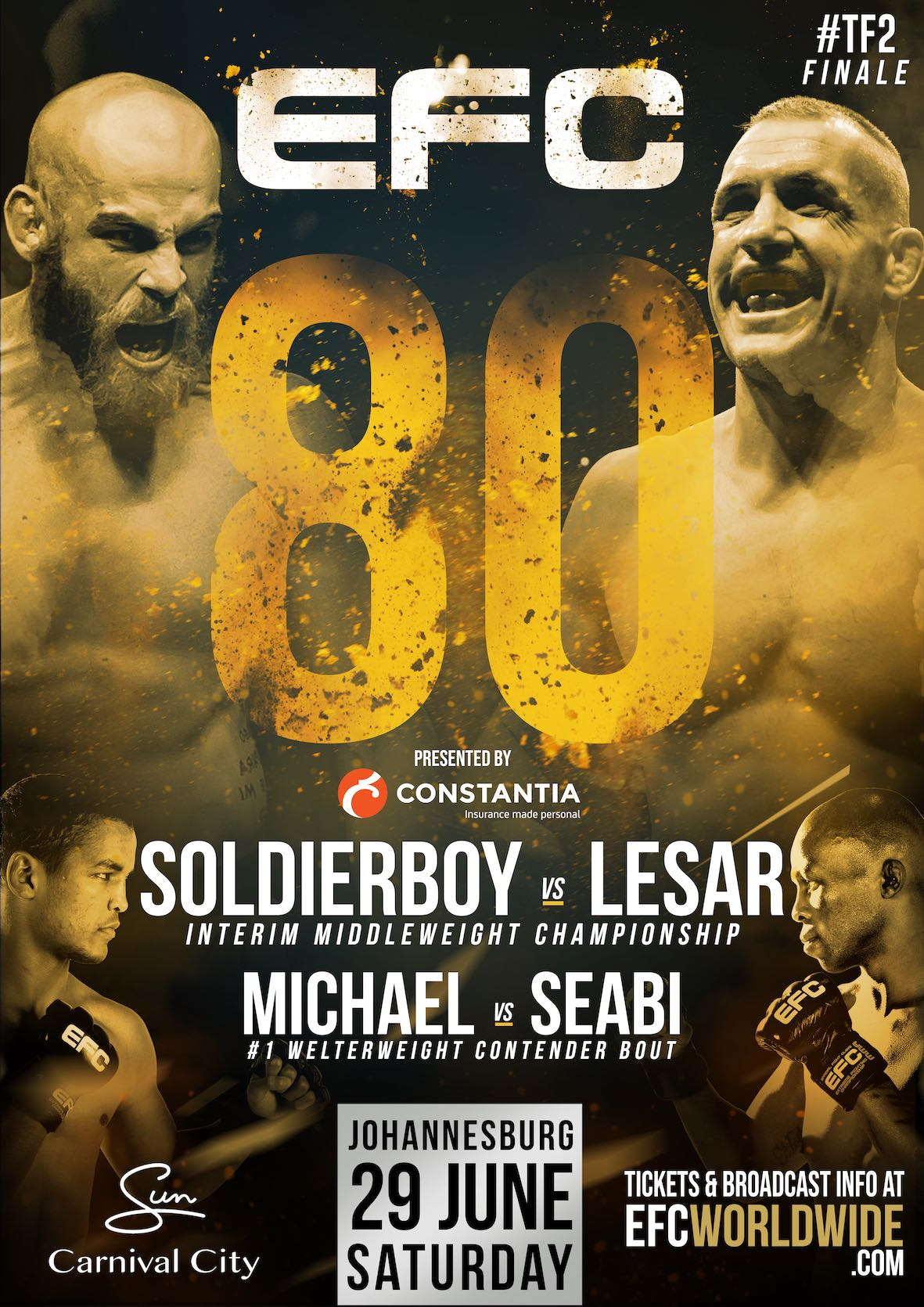 EFC 80 Fight Card featuring 10 exciting Mixed Martial Arts bouts