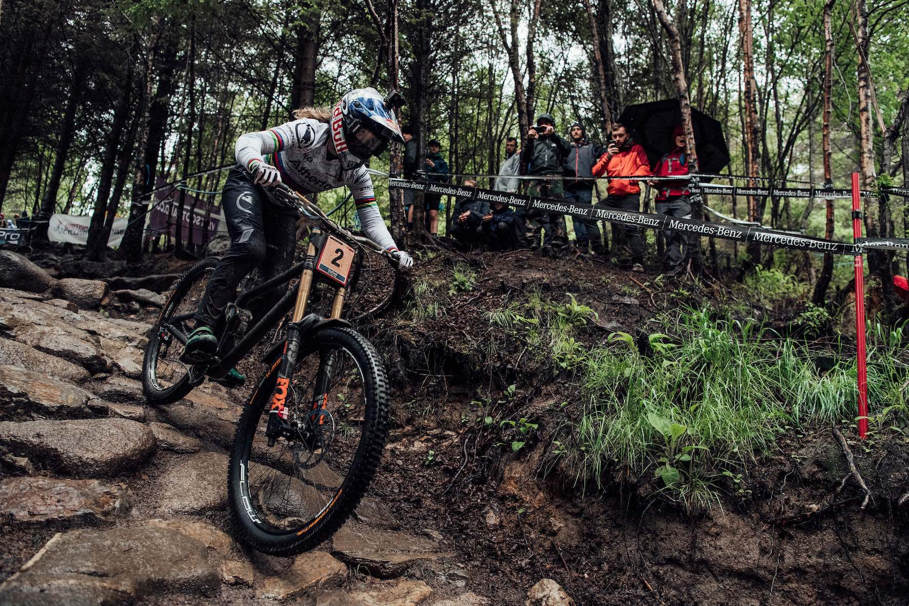 Rachel Atherton winning the 2019 Downhill MTB World Cup at Fort William