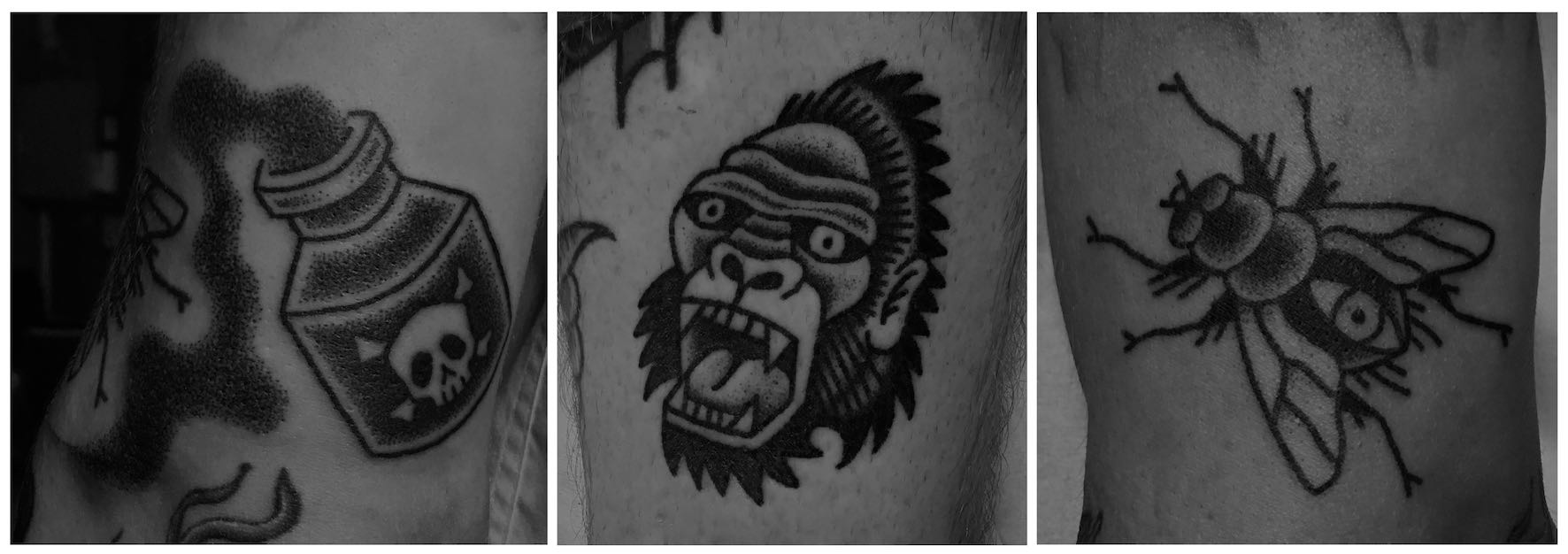 A selection of tattoos done by Tarzan