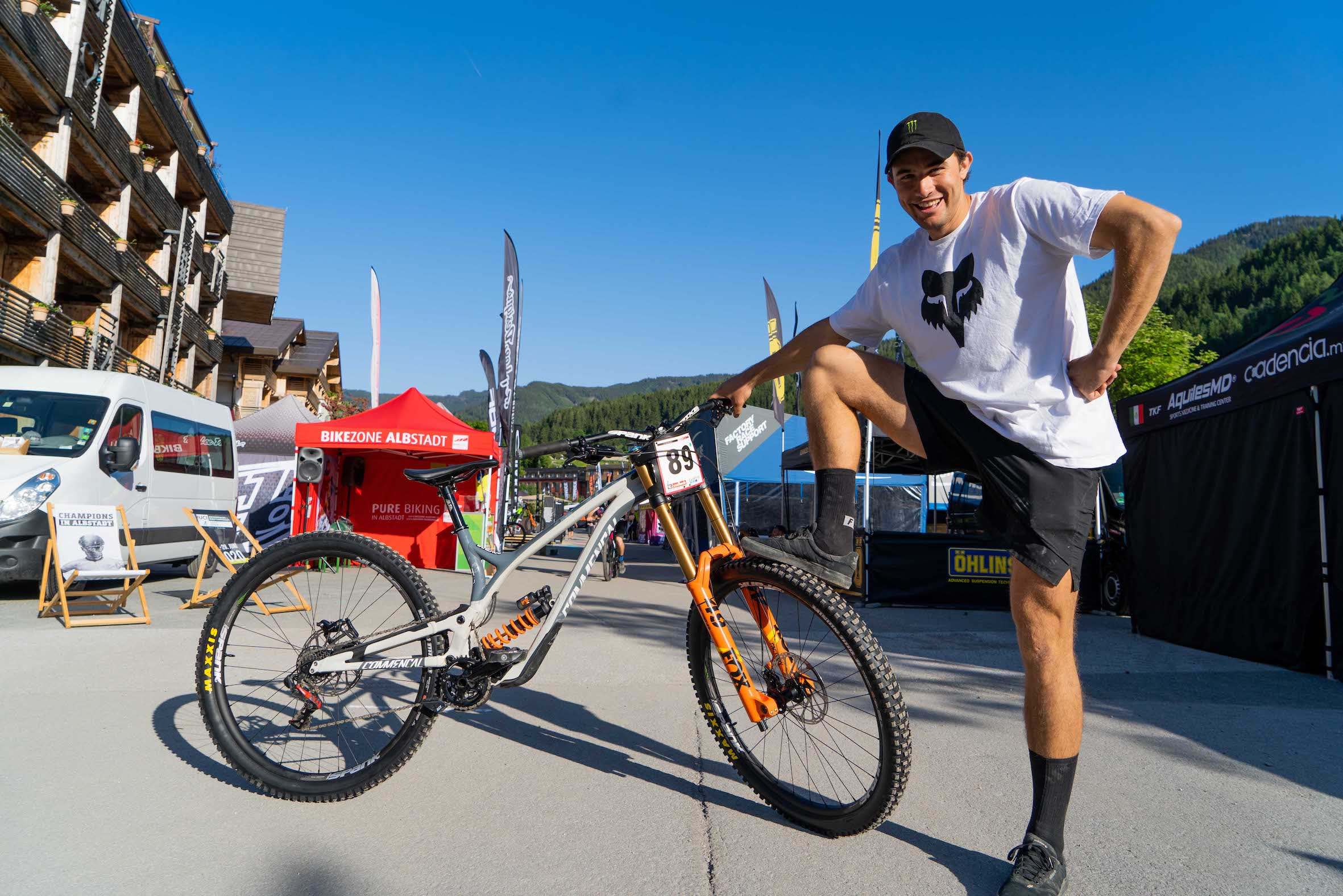 Bike Check with Theo Erlangsen and his Commencal 29 Supreme Downhill MTB bike