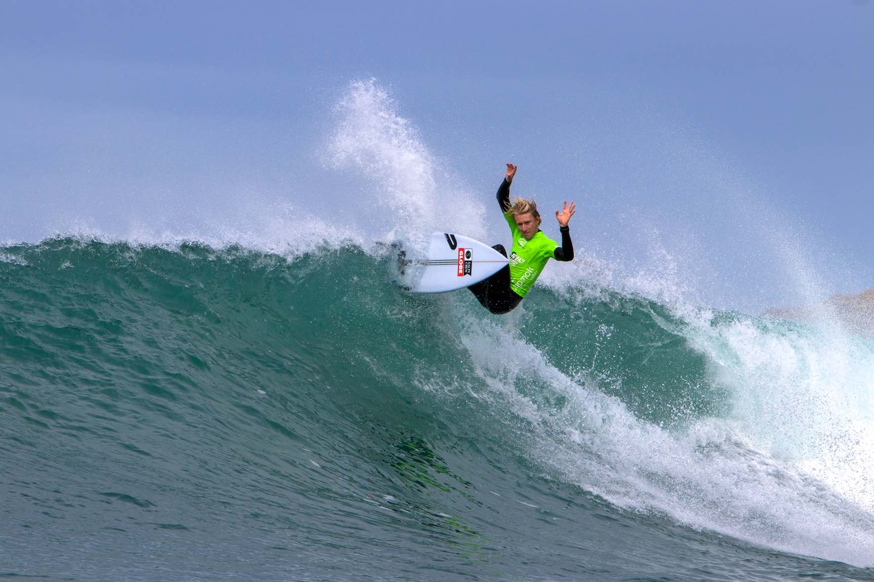 Chris Zaffis surfing in the 2019 Vic Bay Classic