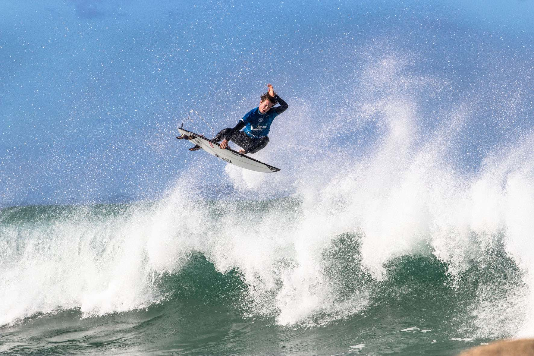 Luke Slijpen surfing in the 2019 Vic Bay Classic