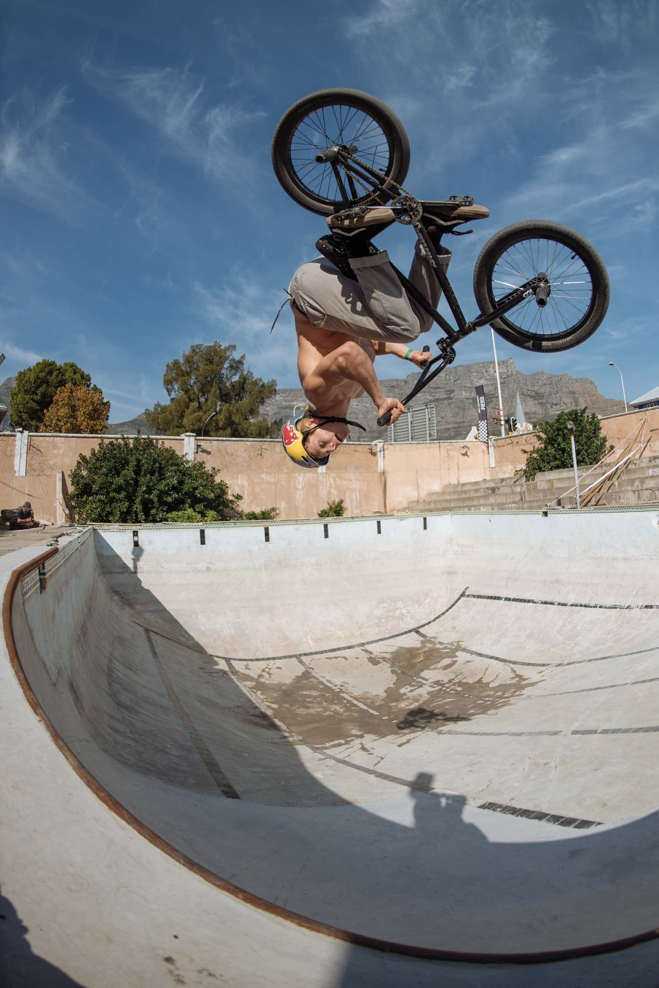 Murray Loubser competing in the Waffle Jam 2019 BMX contest