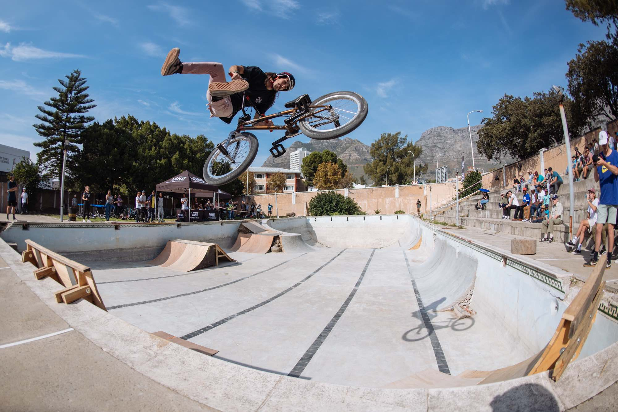 Vincent Leygonie competing in the Waffle Jam 2019 BMX contest