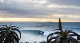Jordy Smith surfing at the infamous JBay