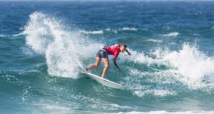 Sarah Baum surfing in the 2019 Ballito Women's Pro