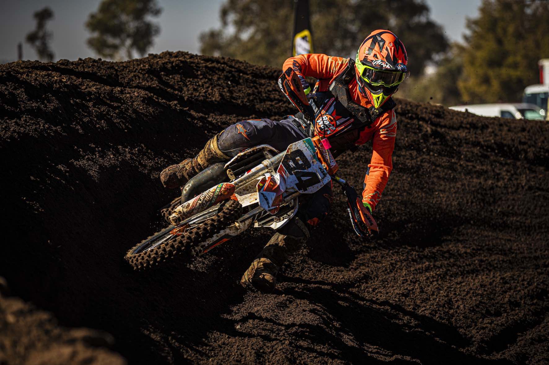 Leonard du Toit racing Round 4 of the 2019 SA Motocross Nationals at Dirt Bronco