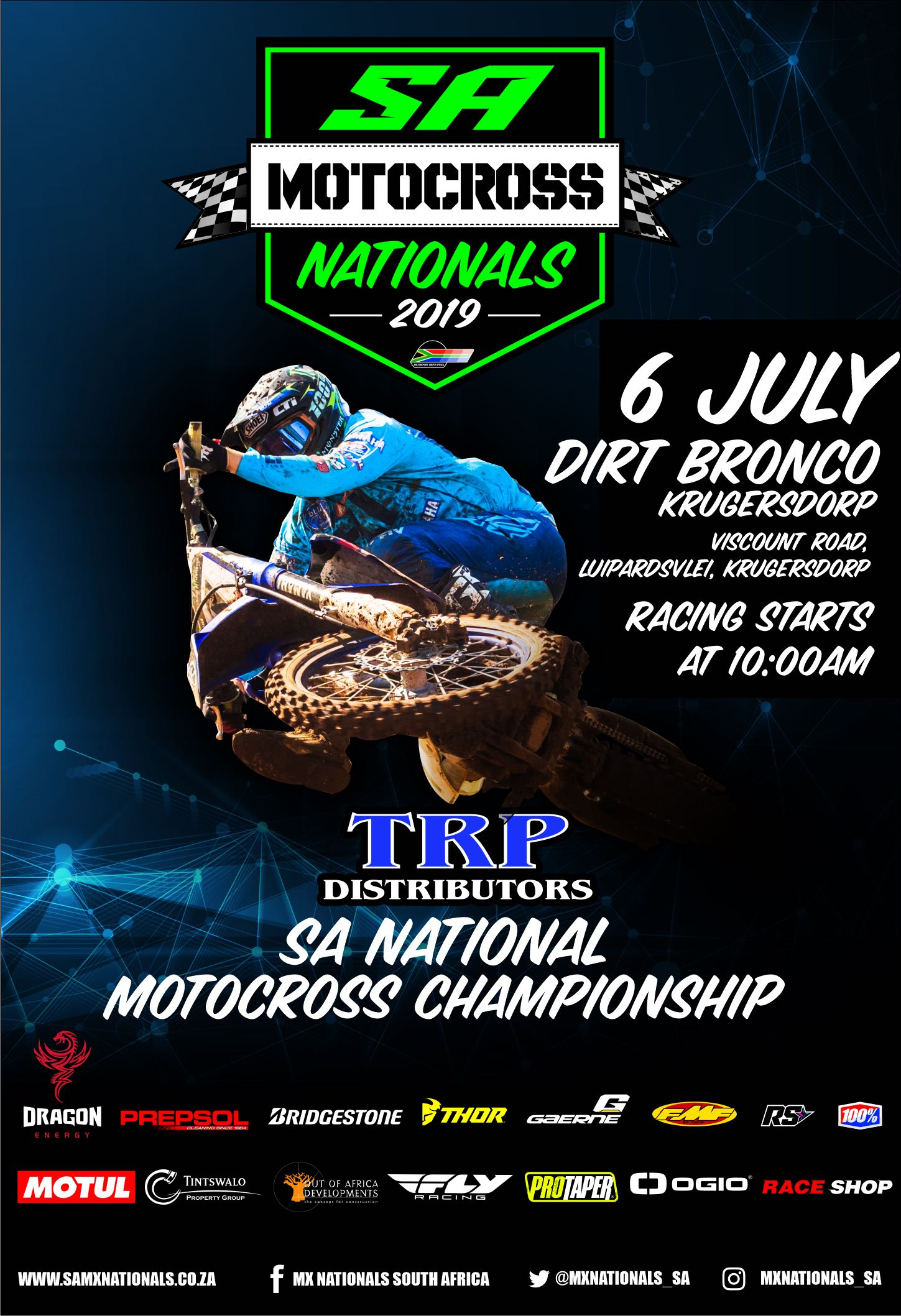 Round 4 of the 2019 TRP Distributors South African National Motocross Championship heads Dirt Broncos in Gauteng this Saturday, 6 July.