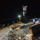 Shotaro Koyama snowboarding in the Red Bull Rail Jam at Winter Whip