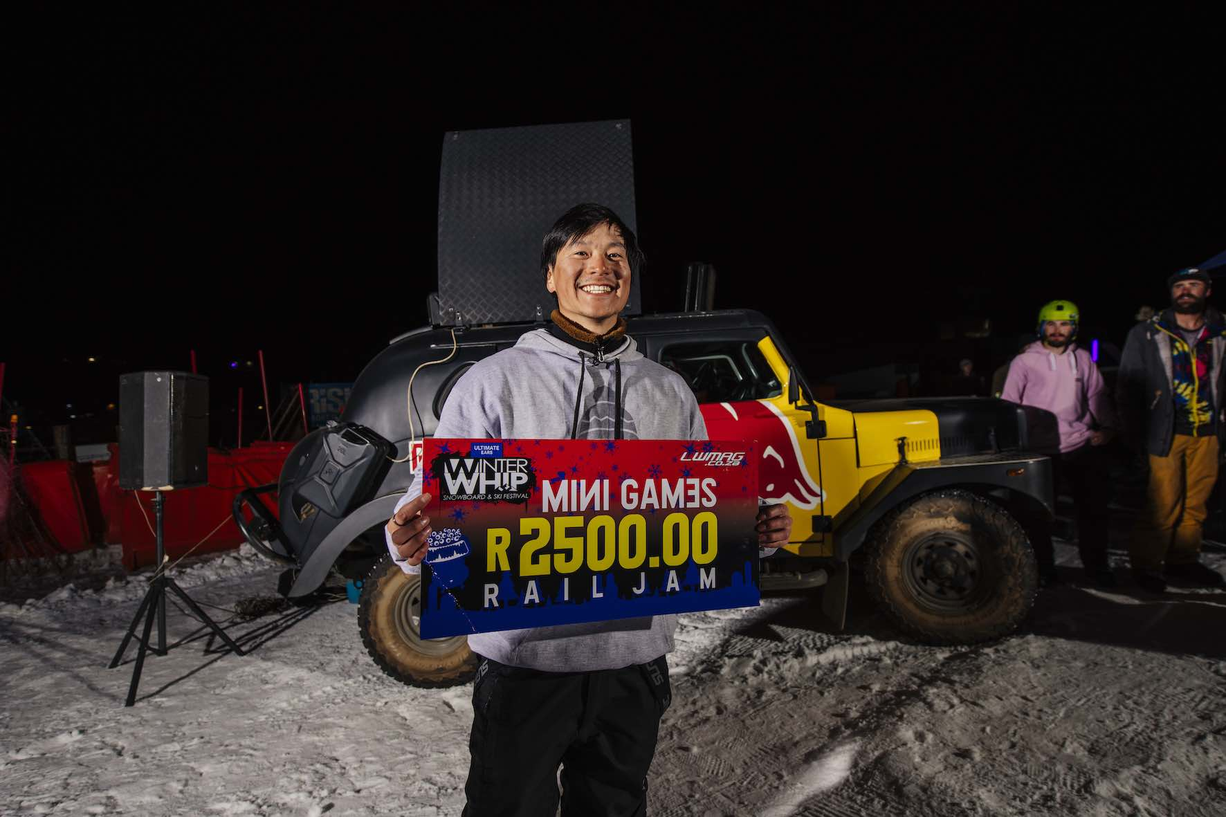Shotaro Koyama winning the Red Bull Rail Jam at Winter Whip