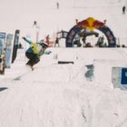 Mary Carminati snowboarding in the 2019 2019 Ultimate Ears Winter Whip Snowboard and Ski Festival