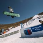 Snowboard acton for the 2019 Winter Whip helps at Afriski Mountain Resort