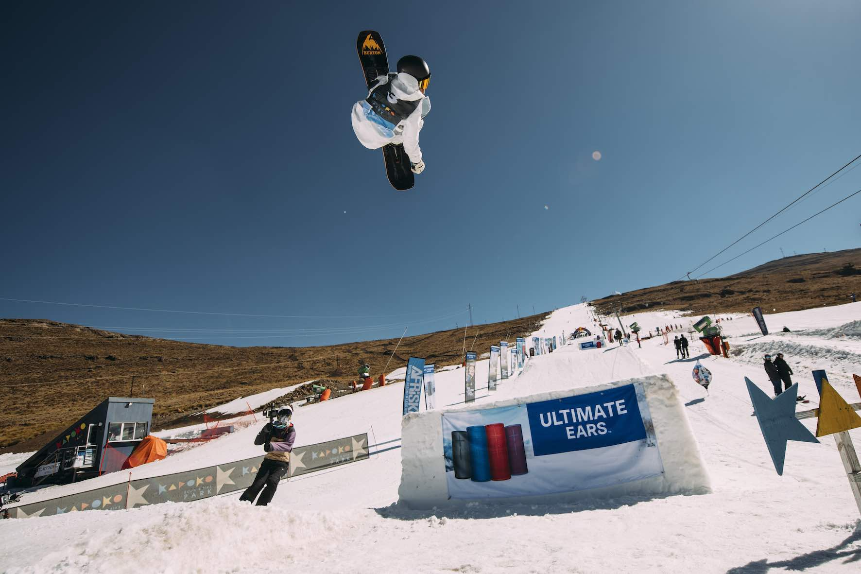 Anthon Bosch competing in the 2019 Ultimate Ears Winter Whip Snowboard and Ski Festival