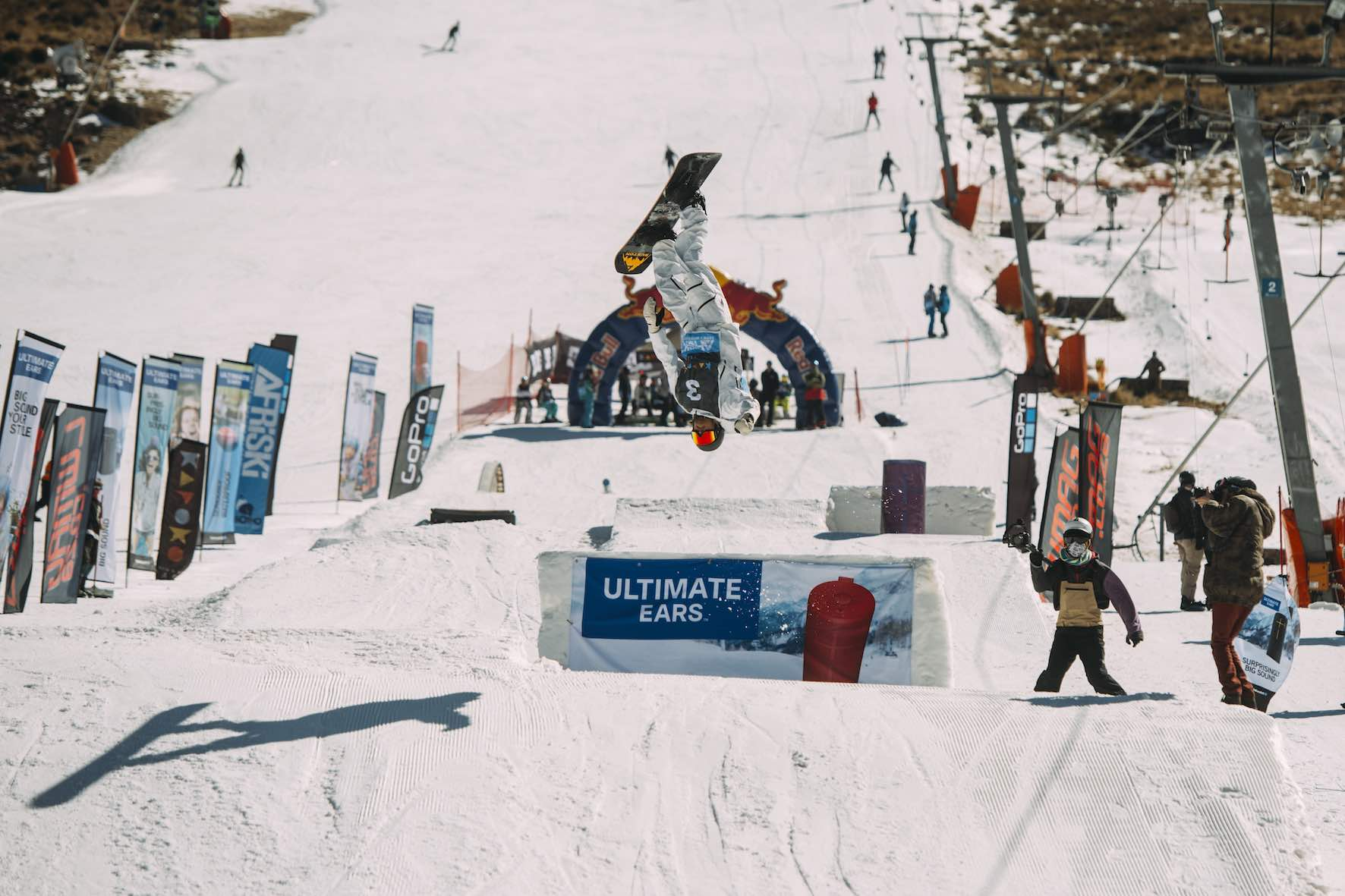 Anthon Bosch snowboarding in the 2019 2019 Ultimate Ears Winter Whip Snowboard and Ski Festival