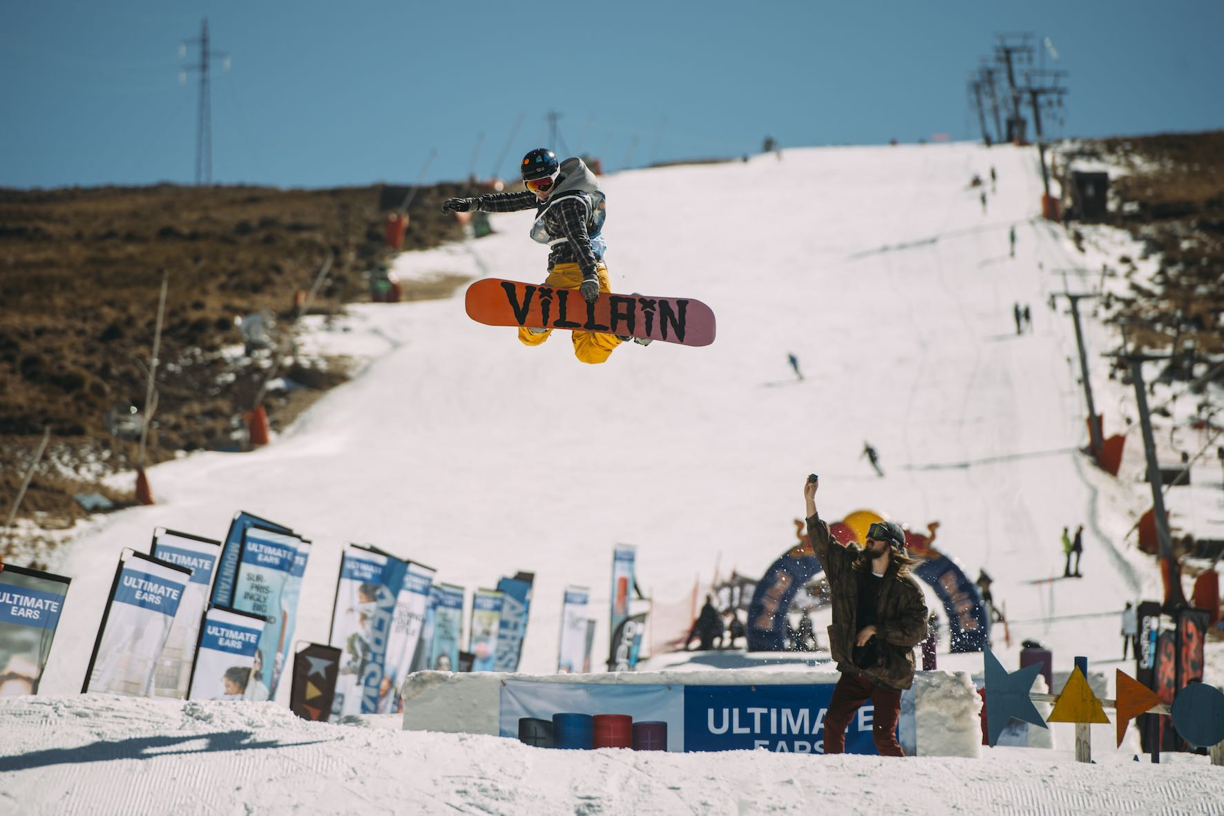 Dean Cowley snowboarding in the 2019 2019 Ultimate Ears Winter Whip Snowboard and Ski Festival