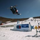 Kaylib Louw snowboarding in the 2019 2019 Ultimate Ears Winter Whip Snowboard and Ski Festival