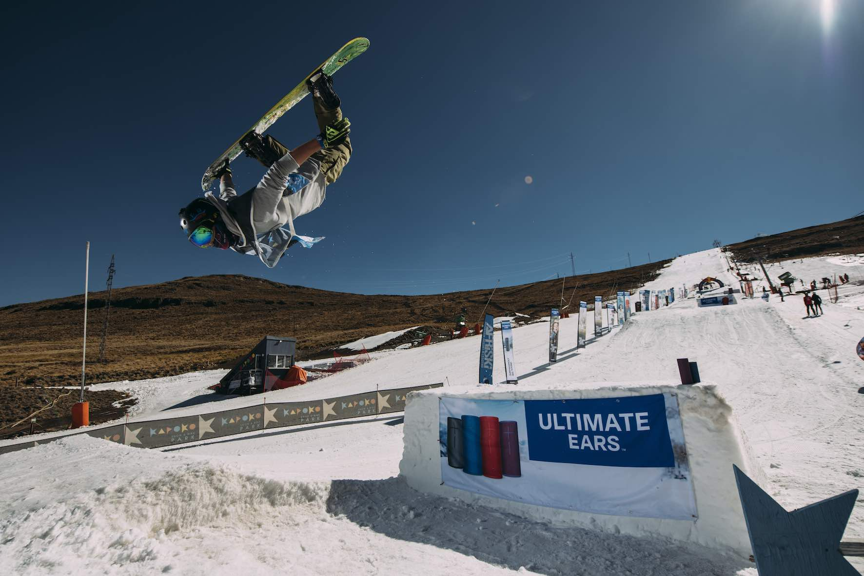 Wesley Schallen snowboarding in the 2019 2019 Ultimate Ears Winter Whip Snowboard and Ski Festival