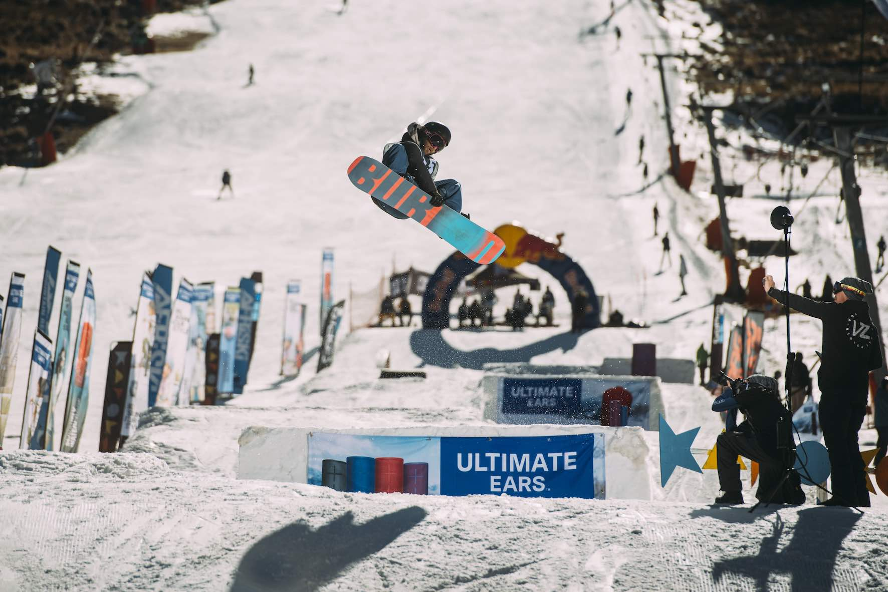 Rueben Storbeck snowboarding in the 2019 2019 Ultimate Ears Winter Whip Snowboard and Ski Festival