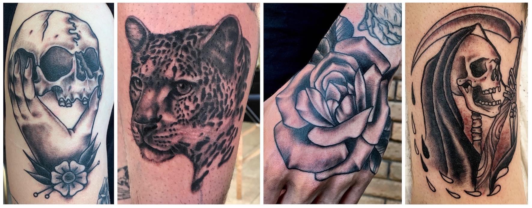 American Traditional tattoos done by Mason Murdey