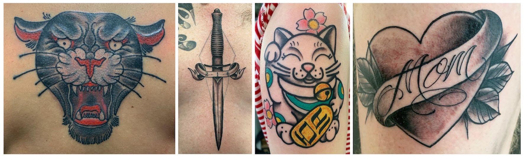 Tattoos done by Mason Murdey