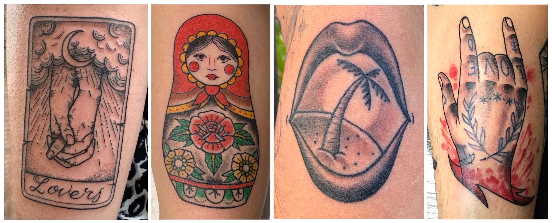 Neo Traditional tattoos done by Mason Murdey