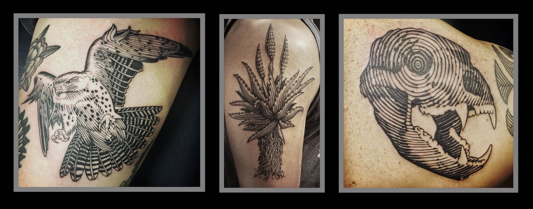 Tattoos done by Tyler B. Murphy