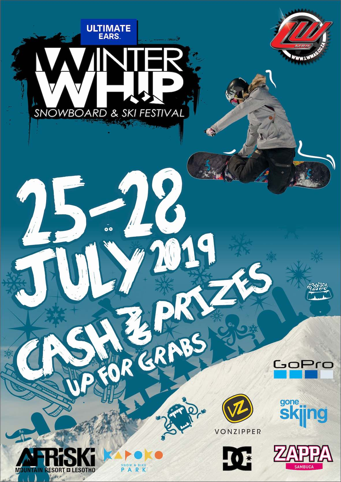 Details for the 2019 Ultimate Ears Winter Whip Snowboard and Ski Festival
