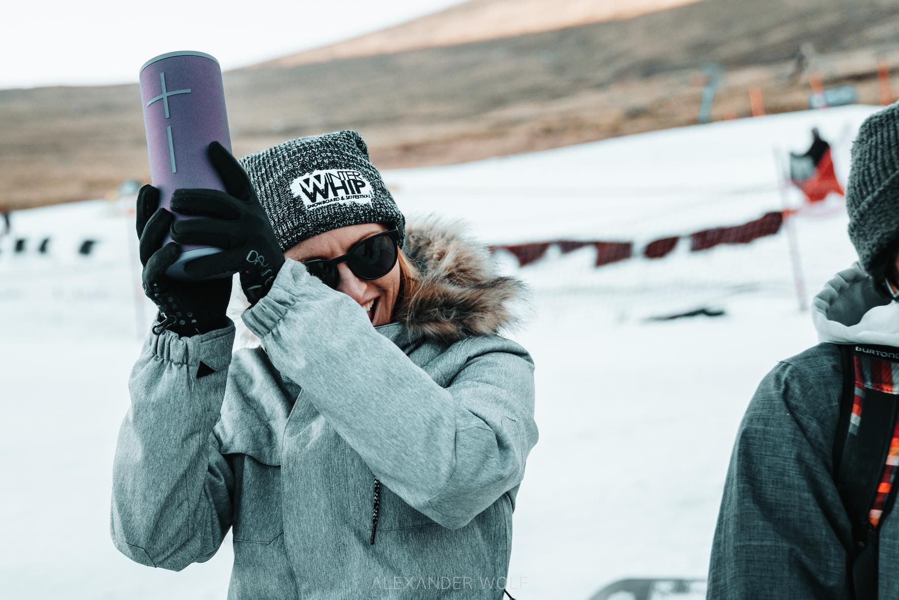 Ultimate Ears speakers providing good vibes on the Afriski Mountain Resort slopes during Winter Whip