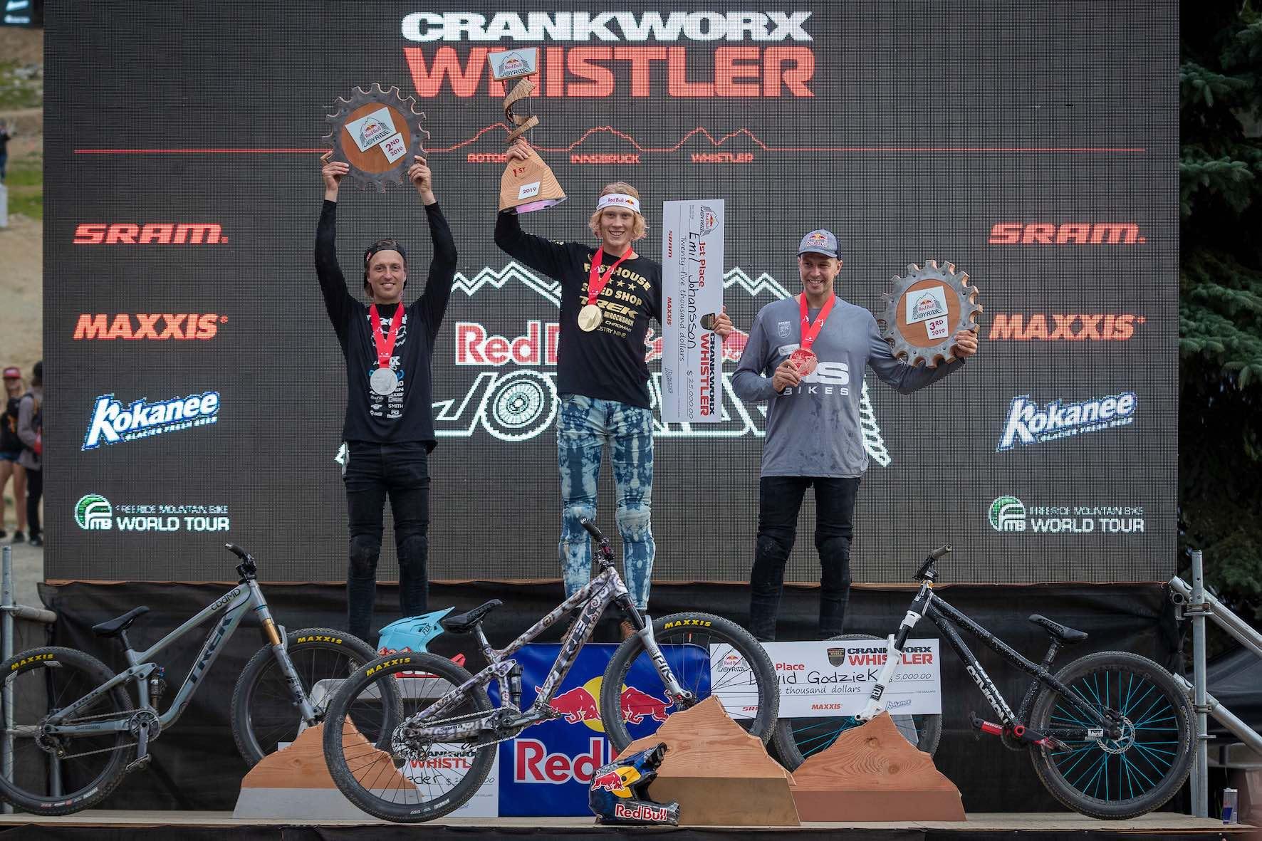 2019 Crankworx Whistler Slopestyle MTB podium