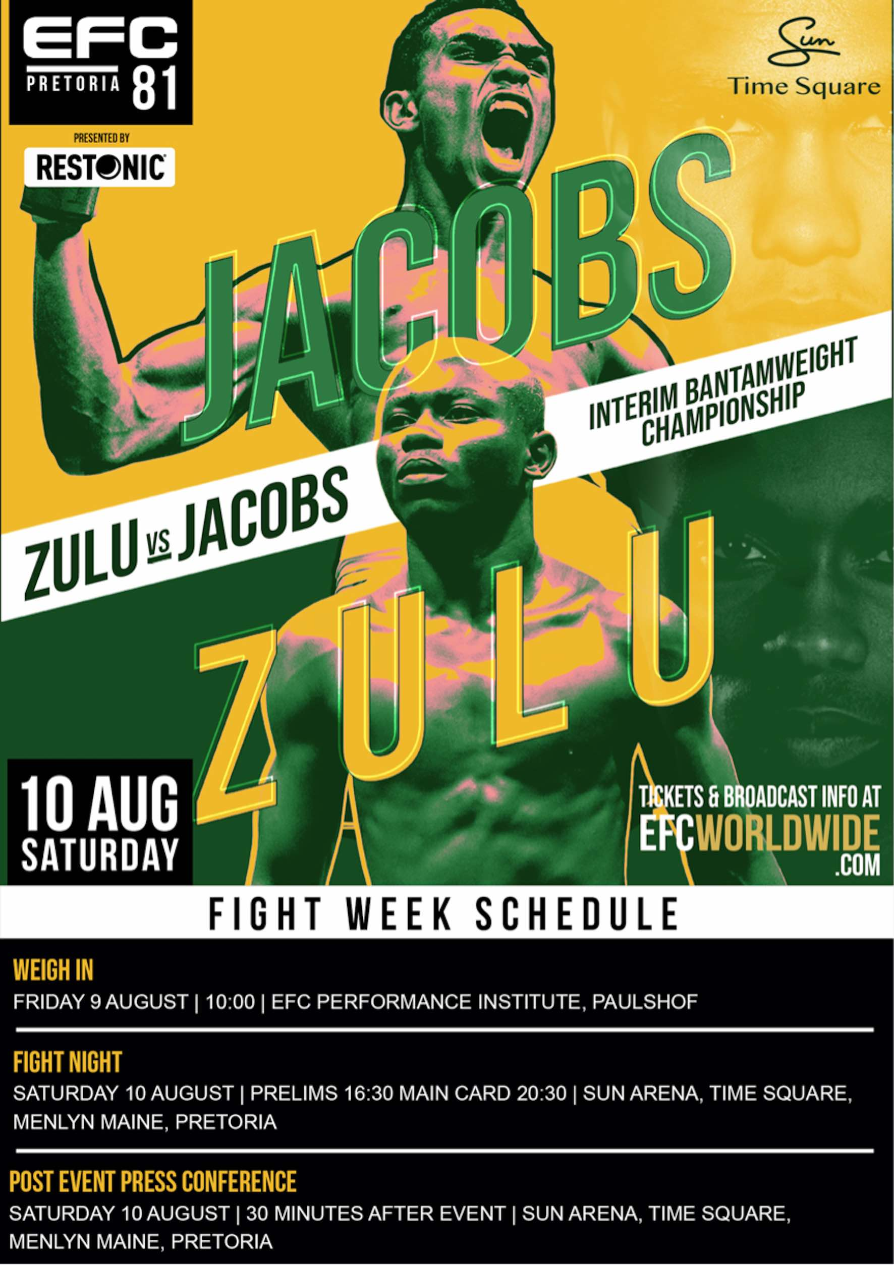 See the full MMA Fight Card for EFC 81