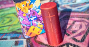 Meet the Ultimate Ears MEGABOOM 3 portable wireless speaker! Super-powerful with thundering bass and immersive 360° sound, and best of all, it's water, dust and drop proof!