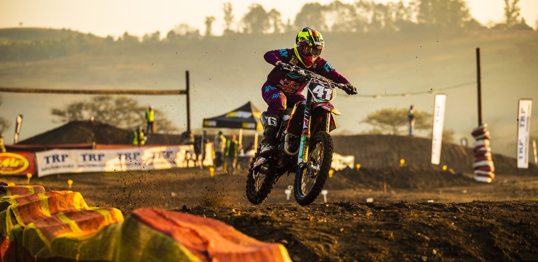 Tristan Purdon racing in the 2019 South African National Motocross Championship in Pietermaritzburg