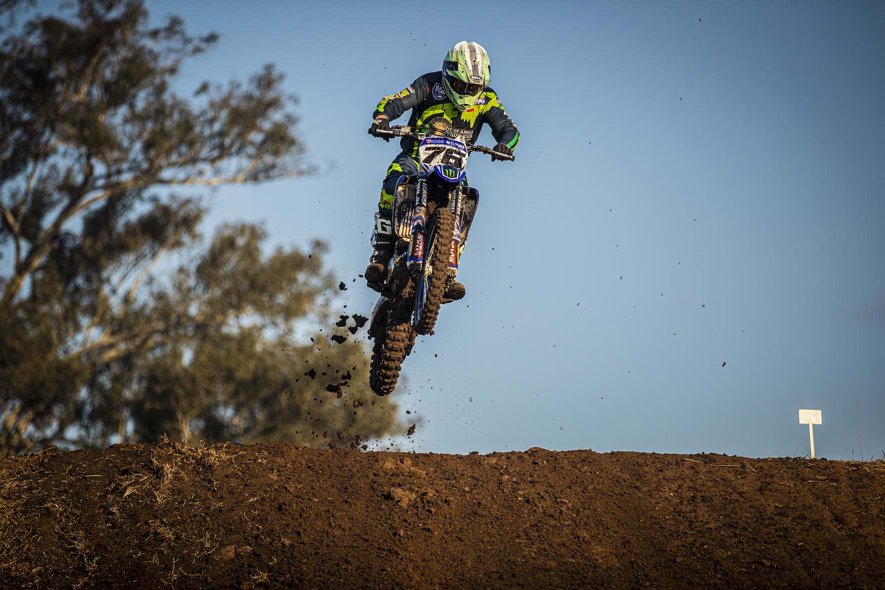 Ian Topliss racing in the 2019 South African National Motocross Championship in Pietermaritzburg