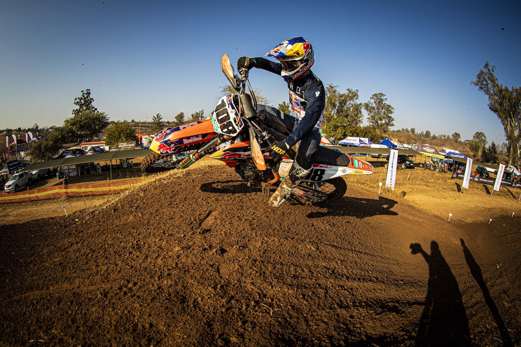 Kerim Fitz-Gerald racing in the 2019 South African National Motocross Championship in Pietermaritzburg