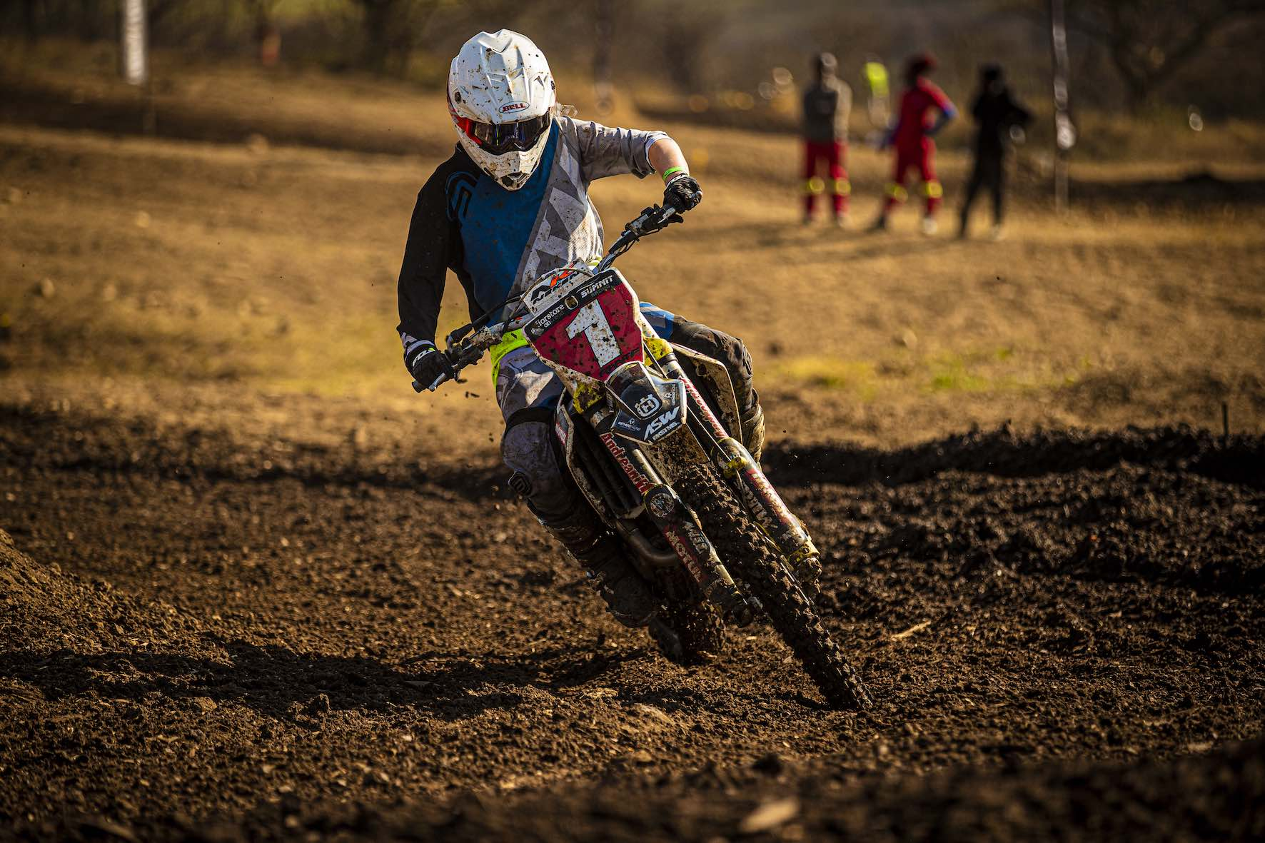 Kayla Raaff racing in the 2019 South African National Motocross Championship in Pietermaritzburg