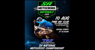 Details for Round 5 of the 2019 TRP Distributors South African National Motocross Championship taking place at the PMB MX Club